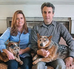 Photo of a family with their dogs